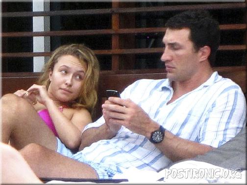 Владимир Кличко отдыхает на пляжах Майами в компании с Хайден Панеттьери